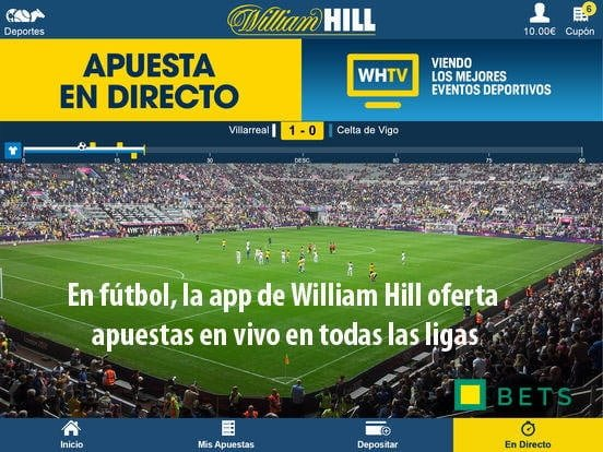 app william hill apuestas live