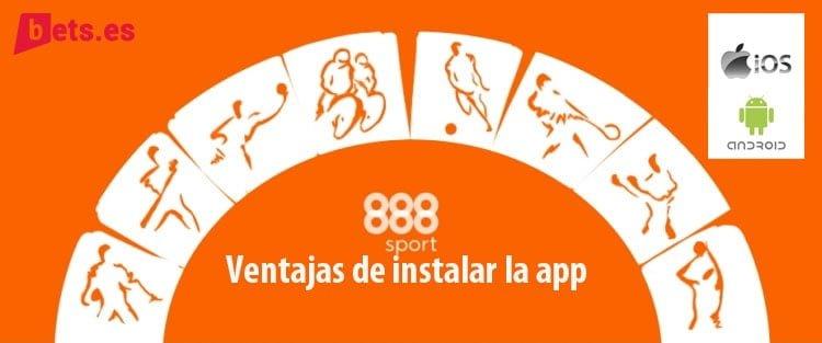 ventajas descargar la app 888spor