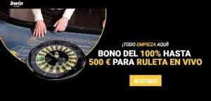 bwin casino bono ruleta en vivo