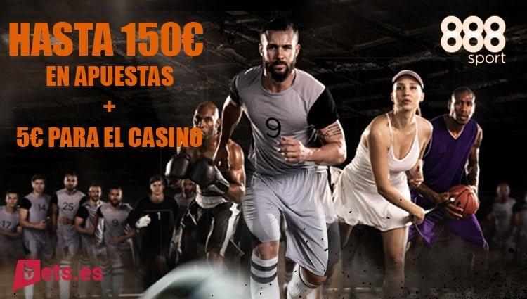 BONO DE BIENVENIDA DE 888SPORT 150 € EN APUESTAS