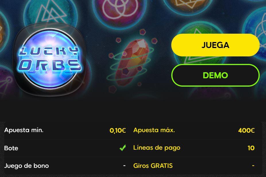 jugar a lucky orbs 888casino