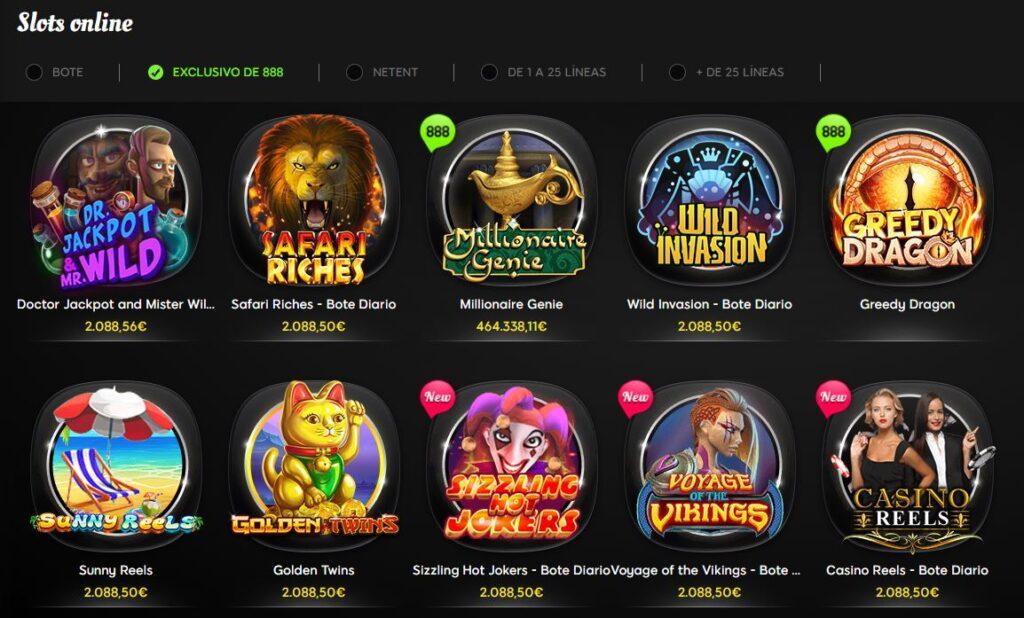 slots exclusivas 888casino
