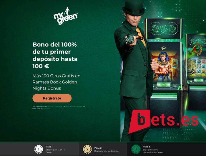 Apuestas Gratis de 100€ con el Bono de Bienvenida Mr Green