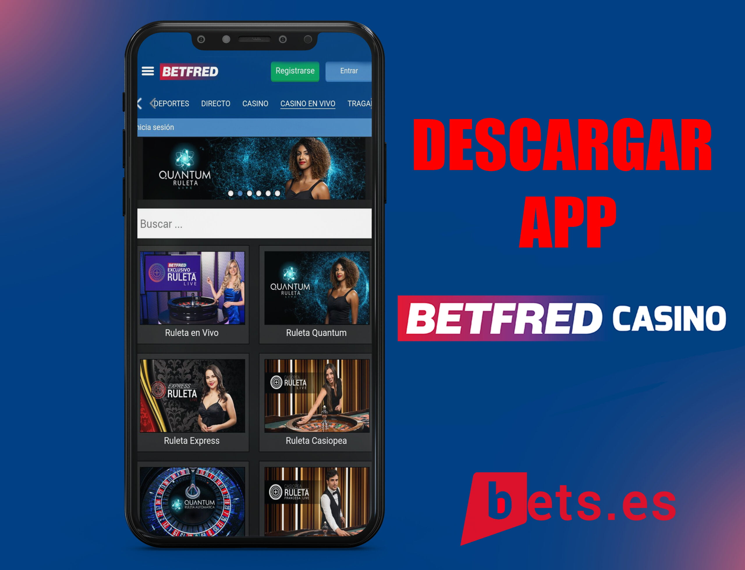 descargar app betfred casino