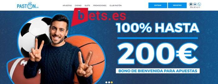 Bono Pastón para apuestas y casino: Hasta 200€ + 20€ apuestas + 20€ casino