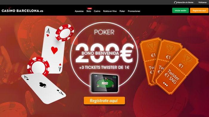 Poker móvil en la App Casino Barcelona: Bono de hasta 200€ + 3 Tickets gratis